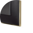 COVER PLATE BLACK WITH BEIGE EDGE